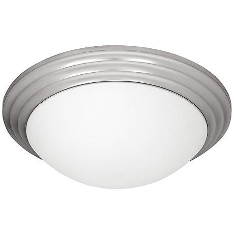 "Access Strata 14"" Wide Brushed Steel Ceiling Light"