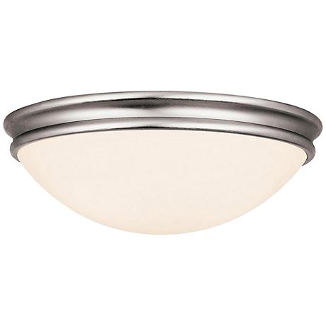 "Access Atom 14"" Wide Brushed Steel LED Ceiling Light"