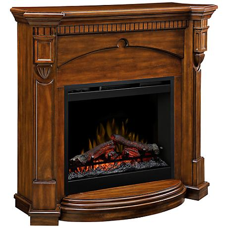 Denton Burnished Walnut Electric Fireplace