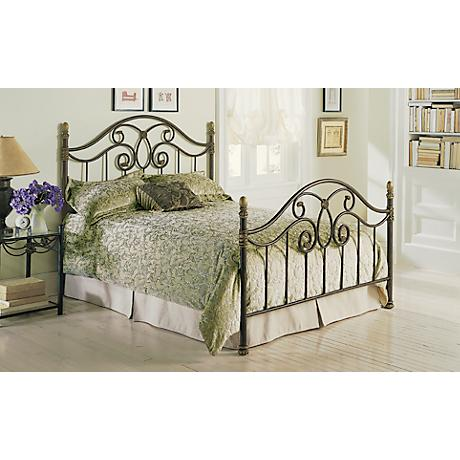 Dynasty Autumn Brown Metal Beds