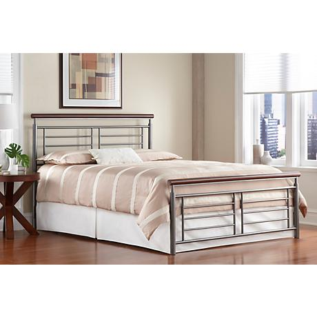Fontane Contemporary Silver Metal Beds