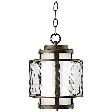 "Bay Court 10 1/4"" High Antique Bronze Outdoor Hanging Light"