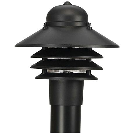 80 h photocell black pad mount 8 inch lamp post w8262. Black Bedroom Furniture Sets. Home Design Ideas
