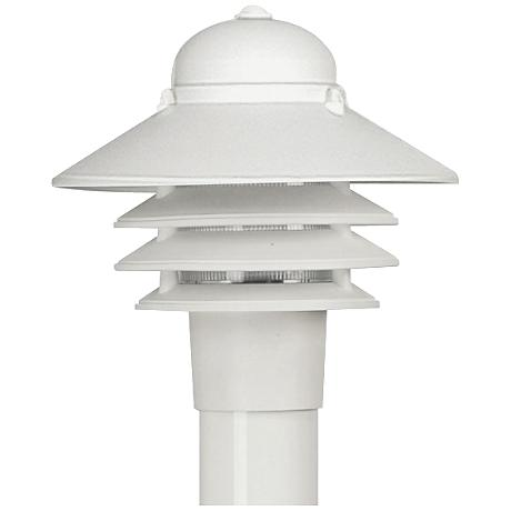 "Marlex Nautical 10"" High White Outdoor Post Light"