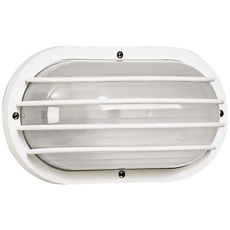 Wave Nautical Bulk Head LED White Outdoor Wall Light
