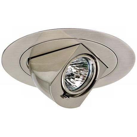 "Intense 4"" Nickel Low Voltage Drop Down Recessed Light Trim"