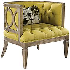 Westwood Lemon Flora Accent Chair