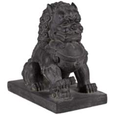 Right Foot Chinese Dog Outdoor Statue