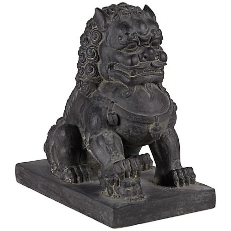 "Right Foot 13 1/2"" High Chinese Dog Outdoor Statue"
