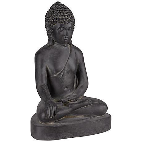 "Sitting Buddha 15 1/2"" High Outdoor Statue"
