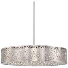 "George Kovacs 24"" Wide Chrome LED Pendant Chandelier"