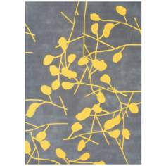 Festival MBT2127 Gray and Yellow Area Rug