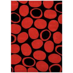 Festival MPL2486 Black and Red Area Rug
