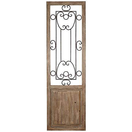 Uttermost Habana Tan Wood Door Wall Art