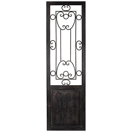 Uttermost Habana Black Wood Door Wall Art