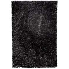 Mambo AMB1300 Midnight Black Shag Area Rug