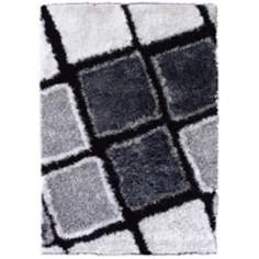 Ragtime RAG7501 Black and White Area Rug