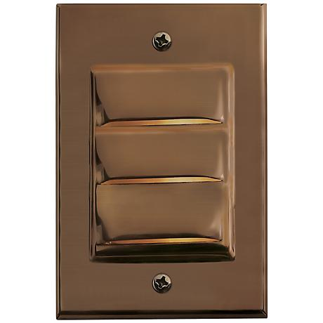 Hinkley Hardy Island Vertical Matte Bronze LED Deck Light