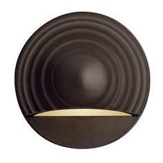 Hinkley Bronze Round Eyebrow 12 Volt LED Deck Light