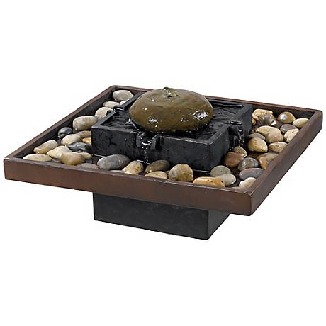 Bliss Two-Tone Bronze Indoor Table Fountain