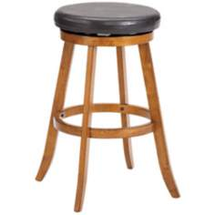 "Hillsdale 31"" High Sylvan Warm Oak Swivel Bar Stool"
