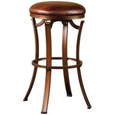 "Hillsdale Kelford 30"" High Backless Swivel Bar Stool"