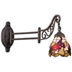 Fruit Bronze Tiffany Style Swing Arm Wall Lamp