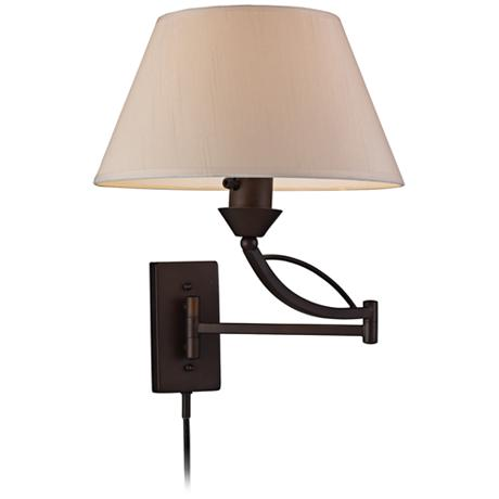reviews summary for elysburg aged bronze plug in swing arm wall lamp. Black Bedroom Furniture Sets. Home Design Ideas