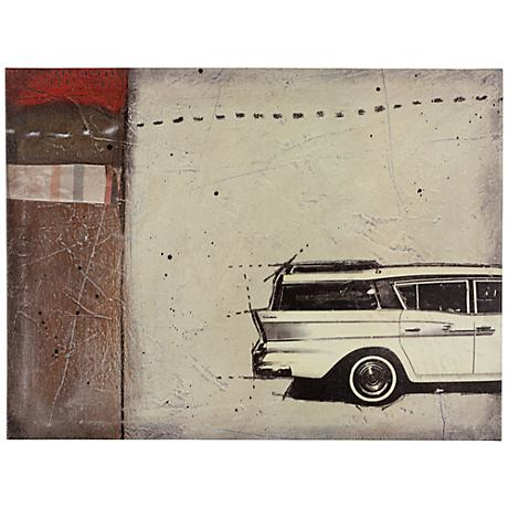 "Classic IV 24"" Wide Vintage Automobile Wall Art"
