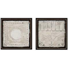 "Set of 2 Ceiling Tiles 22"" High Wall Art"