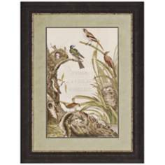 "Sanctuary For Birds 42"" High Traditional Wall Art"