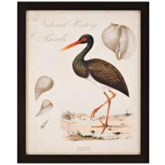 "Heron Anthology I 33"" High Framed Wall Art"