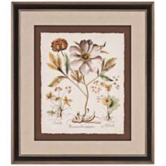 "Ivory Peonies II 38"" High Framed Wall Art"
