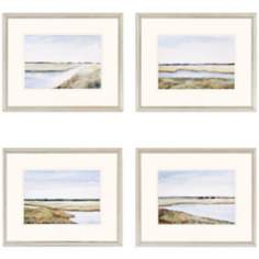 "Set of 4 Marshes 22"" Wide Wall Art"