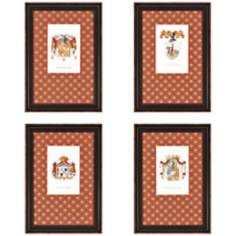 "Set of 4 Crests 20"" High Wall Art"