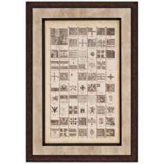 "Encyclopediae Flags VII 40"" High Framed Wall Art"