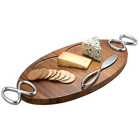 Nambe Infinity Cheeseboard with Knife