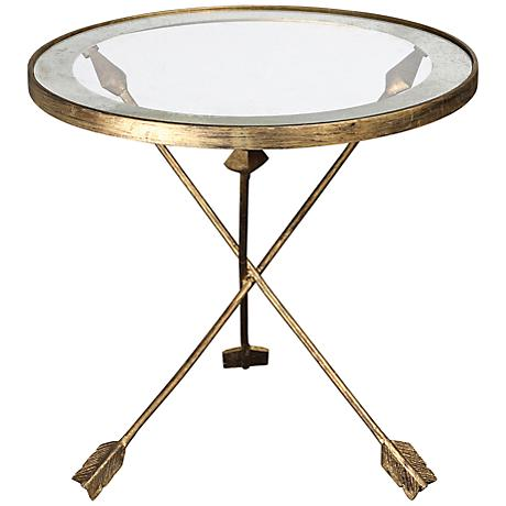 Uttermost Aero Glass Top Accent Table