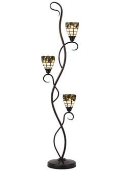 Roma Tiffany-Style 3-Light Floor Lamp