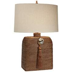 Natural Light Anasazi Wicker Table Lamp
