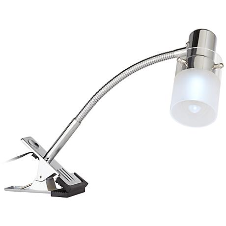 LED Mini Gooseneck Clip On Light in Chrome