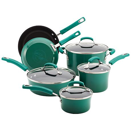 Rachael Ray Fennel Non-Stick 10-Piece Cookware Set