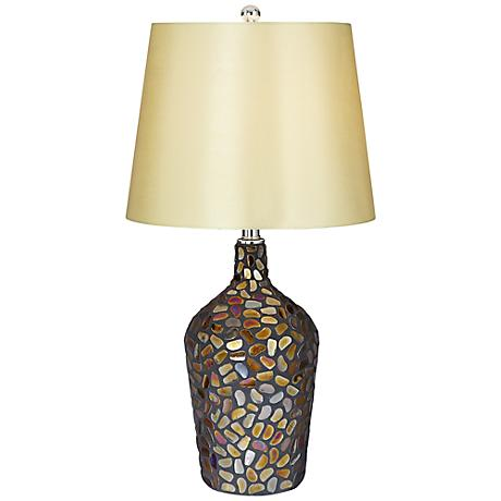 Chloe Glass Mosaic Stones Table Lamp