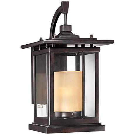 "Foxmoore Collection 16 1/2"" High Bronze Outdoor Wall Light"