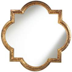 "Lourosa Quatrefoil 34"" x 34"" Decorative Wall Mirror"