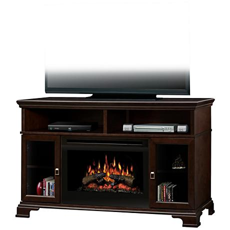 Brookings Espresso Convertible TV Console Electric Fireplace
