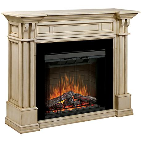 Kendal Parchment Electric Fireplace Mantel
