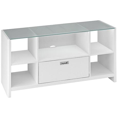 Kathy Ireland New York Skyline White Credenza/TV Stand