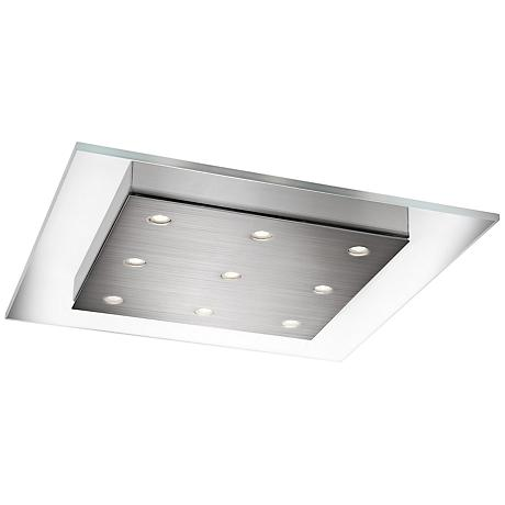 "Matrix 15"" Wide Chrome LED Ceiling Light"