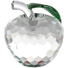 Clear Crystal Apple Figurine